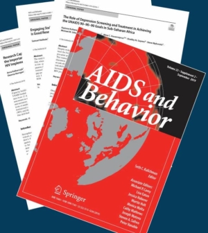 Poster. Aids and Behavior journal cover page.