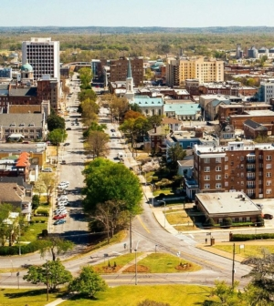 Aerial image of downtown Macon